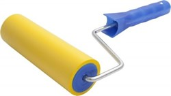 Валик прижимной 15 см d 45/6 мм, резиновый, С РУЧКОЙ, LIDER