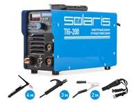 Инверторный аппарат аргонодуговой сварки SOLARIS TIG-200 + AK (TIG-MMA)