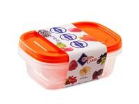 Набор контейнеров пластиковых прямоугольных для пищевых продуктов, 2 шт., 450 мл, серия One Touch, Good&Good