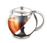 Заварочный чайник 500 мл, стекло/сталь, LARA LR06-09