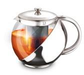 Заварочный чайник 750 мл, стекло/сталь, LARA LR06-10