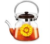 Заварочный чайник 800 мл, боросилкатное стекло, LARA LR06-11