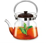 Заварочный чайник 1400 мл, боросиликатное стекло, LARA LR06-13