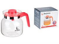 Чайник-кувшин, стеклянный, 1200 мл, Tilo, PERFECTO LINEA