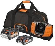 Набор AEG SET LL18X0BL (18 В Li-Ion, 5 Ач+2 Ач, зарядное, сумка)