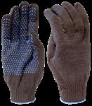 Перчатки рабочие х/б с ПВХ-точкой, 10 класс вязки, 5-и ниточные, 180 текс, черные (упак/10пар)