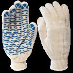 """Перчатки рабочие х/б с покрытием """"Волна"""", 10 кл. вязки, 150 текс, белые (упак/10пар)"""
