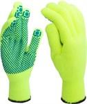 Перчатки рабочие хлопкополиэфирные, 10 класс вязки, с ПВХ-точкой, 133,4 текс, зимние (уп. 5 пар)