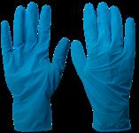 Перчатки нитриловые тонкие, неопудренные, разм.L, голубые, Униксфарм (упак/200шт)