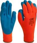 Универсальные перчатки для работы при низких температурах. Защищают руки от холода при периодическом и кратковременном контакте, выдерживают температурный режим до -30°, благодаря акриловому полотну, махровому изнутри. Эта махровая поверхность начесывается до состояния пуха и образует дополнительную воздушную подушку. Рельефное латексное покрытие имеет высокую стойкость к проколам, порезам и обеспечивает отличный захват.   Материал:  1.Основа – 100% акрил.  2.Покрытие – 100% латекс.   Применение:  -общепроизводственные работы;  -техническое обслуживание;  -погрузочно- разгрузочные работы;  -строительно-монтажные работы;  -ремонтные работы.