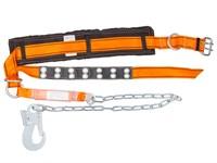 Пояс строительный безлямочный ППА строп аГ (металлическая цепь с амортизатором)