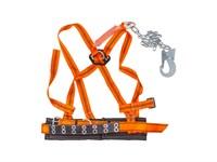 Пояс строительный с наплеч. лямками ППВ строп аГ (метал. цепь с амортизатором)