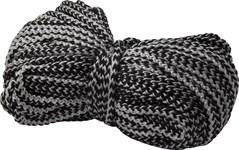 Шнур текстильный (хозяйственно-бытовой) без наполнителя 4мм, черно-белый (бухта/25м)