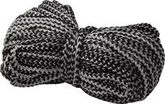 Шнур текстильный (хозяйственно-бытовой) без наполнителя 5мм, черно-белый (бухта/25м)