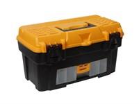"""Ящик для инструмента пластмассовый АТЛАНТ 43х23,5х25 см (18"""") с консолью и секциями"""