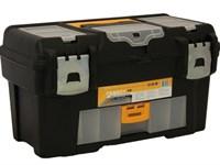 """Ящик для инструмента пластмассовый ГЕФЕСТ 43х23,5х25 см (18"""") мет. замки ( с консолью и секциями)"""