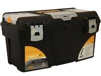 """Ящик для инструмента пластмассовый ГЕФЕСТ 53х27,5х29 см (21"""") мет. замки, с коробками"""