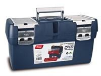 Ящик для инструмента пластмассовый 50x25,8x25,5 см с лотком и органайзером (мет. замки) TAYG