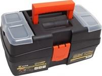 Ящик для инструментов 12'' пластм, 29х17х14 см, 2 органайзера, внутр.лоток KERN