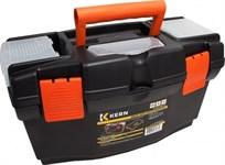 Ящик для инструментов 16'' пластм, 41х21х23 см, 3 органайзера, внутр.лоток KERN