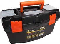 Ящик для инструментов 19'' пластм, 49х25х25 см, 3 органайзера, внутр. лоток KERN