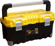 "Ящик для инструментов 22"" пластм, алюм.ручка, 55,4х27,6х28,6 см, 3 органайзера, внутр. лоток KERN"