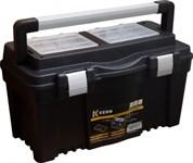 """Ящик для инструментов 25"""" пластм, алюм.ручка, 59,8x32,7x28,6см, 2 органайзера, внутр.лоток KERN"""