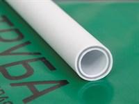 Труба полипропиленовая армированная стекловолокном 20х3,4 мм PN25 серый (4 метра) РосТурПласт
