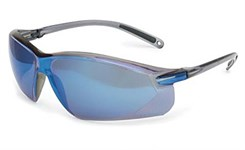 Очки защитные сине-серебристая линза, ультра-легкие, покр. от царапин, мод. A700, Honeywell