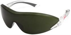 Очки защитные темно-зеленые, д/газосварки и плазм. резки, поликарбонат, AS/AF покр, мод 2845 3M