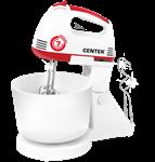 Миксер с чашей Centek CT-1113 (170Вт, 6 скоростей+турбо, взбивание/замешивание)