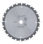 Диск пильный по дереву MILWAUKEE D 165х15,87х1,6 мм, 24Z зуба
