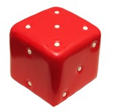"""Пуфик для детей и подростков """"Кубик"""" (красный)"""
