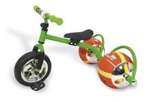 Велосипед с колесами в виде мячей «БАСКЕТБАЙК» зелёный BRADEX