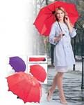 Зонт с проявляющимся рисунком, фиолетовый