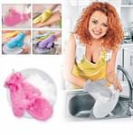 Варежкa двусторонняя для мытья посуды и уборки, фиолетовая