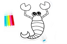 Раскраска надувная «СКОРПИОН»