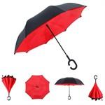 Зонт наоборот КРАСНЫЙ МАК