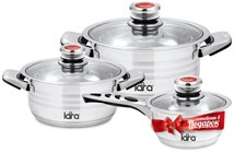 Набор посуды LARA LR02-104 серия ADAGIOl ( (кастр. 2.3л + 4.2л ) + сотейник 1.6л