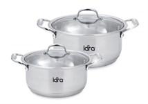 Набор посуды LARA LR02-105 серия HARMONY (кастр. 2.3л + 4.2л )
