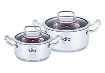 Набор посуды LARA LR02-107 серия Prima (кастр. 2.0л + 3,7л)
