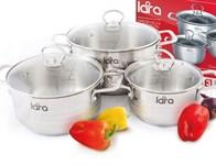 Набор посуды LARA LR02-86 серия Apple (кастрюли: 2.0л, 3.6л, 6.1л)