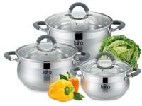 Набор посуды LARA LR02-92 серия Bell (кастрюли:1.9л, 3.6л, 6.1л)