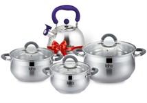 Набор посуды LR02-92 BELL PROMO (кастр.1.9л, 3.6л, 6.1л+чайник 2,1 л)