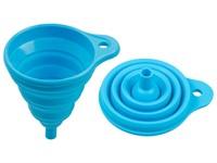 Воронка силиконовая 10,5 х 14,5, голубая, PERFECTO LINEA