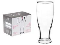Набор стаканов для пива, 6 шт., 330 мл, серия Brotto, LAV