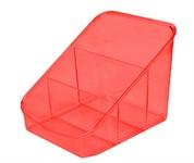 Органайзер для косметики Eva, красный полупрозрачный, BEROSSI (158 х 149 х 131 мм)