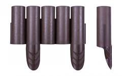 Бордюр пластиковый (коричневый, 4 шт, общая длина 108 см, выс. 24,5/27 см) FINLAND Pro-Garden