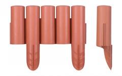 Бордюр пластиковый (терракот, 4 шт, общая длина 108 см, выс. 24,5/27 см) FINLAND Pro-Garden