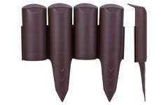 Бордюр пластиковый (коричневый, 5 шт, общая длина 125 см, 23x25 см) FINLAND Pro-Garden